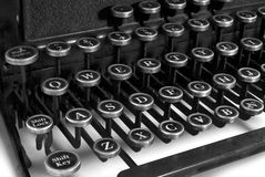 Black and white keyboard typewriter Stock Image