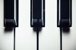 Black And White Keys Royalty Free Stock Image