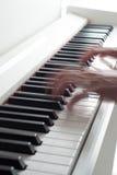Black and white keys. Electronic piano Stock Photos