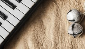 Black and white keys of an old piano close-up Royalty Free Stock Images