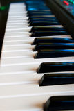 The black and white keys of a piano. Stock Photo