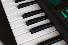The black and white keys of a piano. Stock Images
