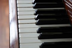 Black and white keys of piano. Black and white keys of classic piano stock image