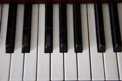 Black and white keys of piano. Black and white keys of classic piano stock photo