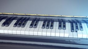 Black and white keys of a piano. 3d rendering of Black and white keys of a piano Stock Images