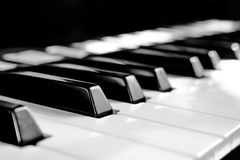 Black and white keys Royalty Free Stock Photos