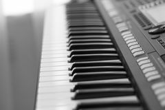 Black and white keys of a synthesizer Royalty Free Stock Image