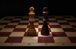 Black and White King on chess board. Stock Images