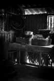 Black and white kitchen Royalty Free Stock Image