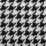 Black and white knitted Houndstooth pattern Royalty Free Stock Images