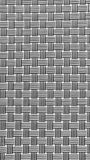 Black & white knitting vertical and horizontal mat for food plat Stock Photos