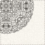 Black and White Lace Abstract Decor Element Stock Images