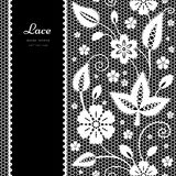 Black and white lace background Royalty Free Stock Photo
