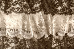Black and white lace Stock Photo