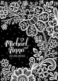 Black and White Lace. Royalty Free Stock Image