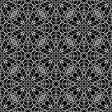 Black and white lace ornament, seamless pattern Royalty Free Stock Image