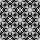 Black and white lace pattern. Abstract black and white ornament, lace texture, seamless pattern Royalty Free Stock Photos