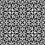 Black and white lace pattern. Abstract black and white ornament, lace texture, seamless pattern Stock Image