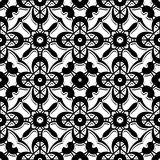 Black and white lace pattern Royalty Free Stock Photos