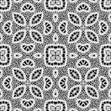 Black and white lace pattern Royalty Free Stock Photo