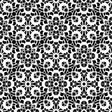 Black and white lace pattern Stock Photos