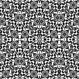 Black and white lace, seamless pattern Stock Photos