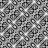 Black and white lace texture, seamless pattern Stock Images