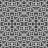 Black and white lace texture, seamless pattern Stock Photography