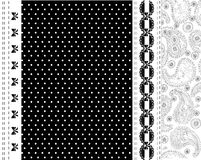 Black and white lace vector design Royalty Free Stock Images