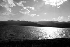 Black and White Lake. In Montana Stock Images