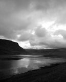 Black and white lake. Iceland Royalty Free Stock Image