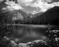 Black and white lake