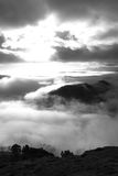 Black and White Lake District Royalty Free Stock Image