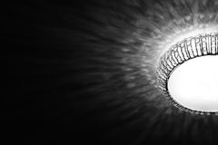 Black and white lamp royalty free stock photo