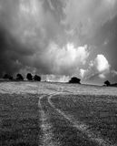 Black and white landscape Royalty Free Stock Images