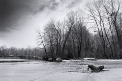 Black and white landscape Royalty Free Stock Photo