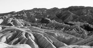 Impassible Death Valley eroding mountains Royalty Free Stock Image