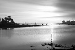 Black and white landscape in Brittany coast Stock Image