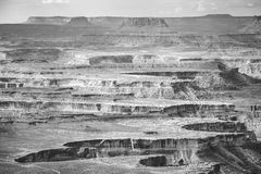 Black and white landscape in Canyonlands National Park. Stock Photos