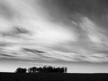 Black and white landscape Royalty Free Stock Image