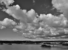 Black and white landscape Royalty Free Stock Photos