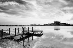 Black and white landscape Stock Photo