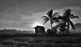 Black and white landscape Stock Photography