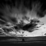 Black and white landscape Stock Photos