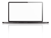 Black and white laptop illustration  Royalty Free Stock Photo