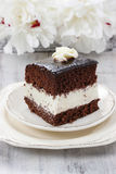 Black and white layer cake Stock Photo