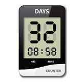 Black white LCD counter - countdown timer Royalty Free Stock Photo