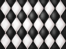 Black and white leather Royalty Free Stock Image