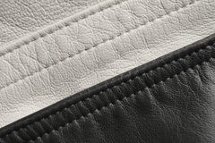 Black and white leather Stock Photography