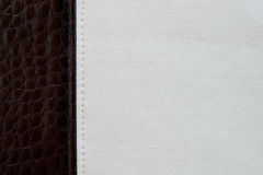 Black and white leather texture background Royalty Free Stock Photography